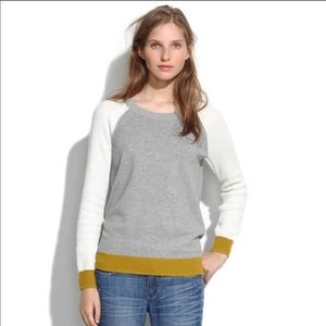 Madewell Wafflestitch Colorblock Sweater